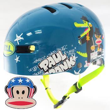 BELL Fraction BMX安全帽/童帽/成人 (Paul Frank大嘴猴) 51~56cm S_藍