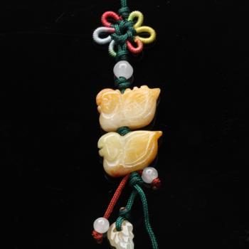 【雅紅珠寶】鶼鰈情深冰種緬甸玉墜子(吊飾/項鍊)