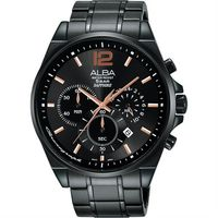 ALBA Prestige 街頭酷 計時腕錶 ^#45 鍍黑 ^#47 44mm VD53