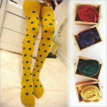 【兩雙入】日韓卡通兒童純棉襪保暖波點連身襪