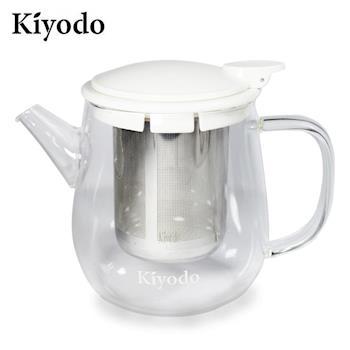 【Kiyodo】時尚美心玻璃泡茶壺600ml