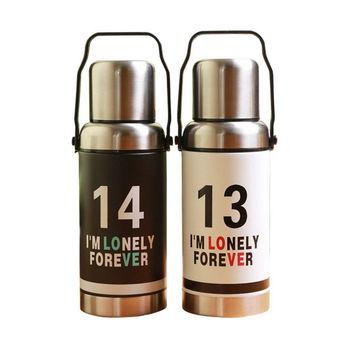 1314復古造型保溫瓶(黑色/白色)