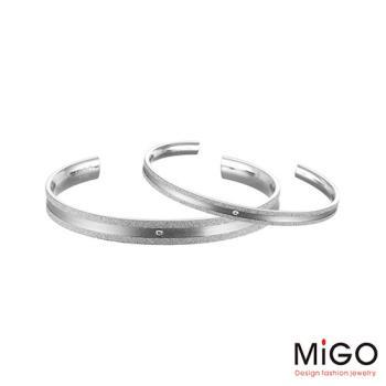 MiGO 星空施華洛世奇美鑽/白鋼成對手環