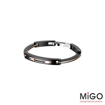 MiGO Going施華洛世奇美鑽/白鋼手環-小(黑)