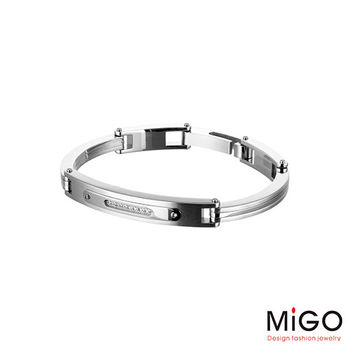 MiGO Going施華洛世奇美鑽/白鋼手環-小