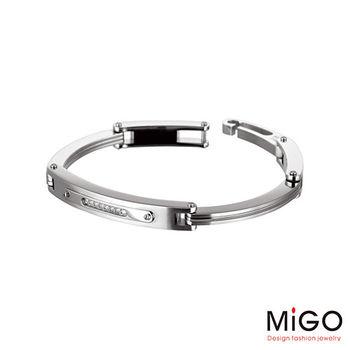 MiGO Going施華洛世奇美鑽/白鋼手環-大