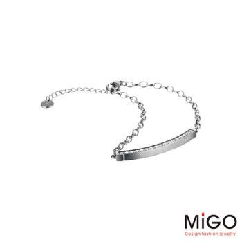 MiGO 心動施華洛世奇美鑽/白鋼手環-小