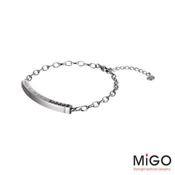 MiGO 心動施華洛世奇尖晶石/白鋼手環-大