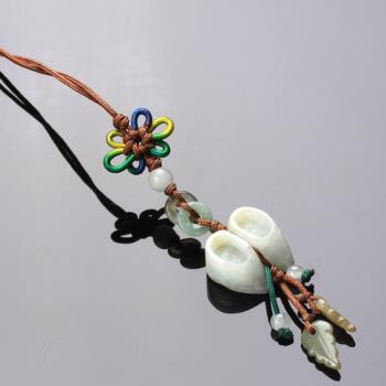 【雅紅珠寶】繡花鞋冰種緬甸玉墜子(吊飾/項鍊)