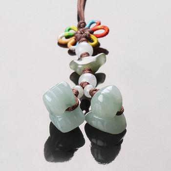 【雅紅珠寶】考試包「粽」冰種翡翠玉墜子
