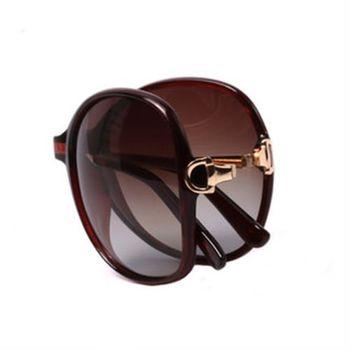【MEGASOL】寶麗萊摺疊UV400偏光太陽眼鏡(MS9217Z)-茶色