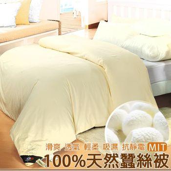 【Valentino范倫鐵諾】台灣製造100%天然蠶絲被(雙人)