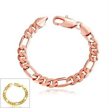 【米蘭精品】純銀手鍊鍍18K金手環歐美潮流時尚簡約2色73cd52