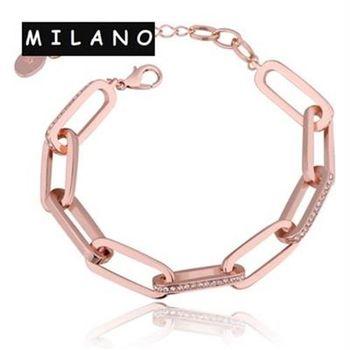 【米蘭精品】純銀手鍊鍍18K金鑲鑽手環時尚熱銷歐美潮流73cd68