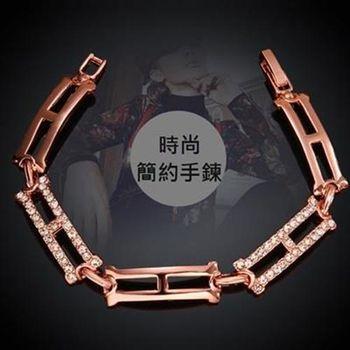 【米蘭精品】純銀手鍊鍍18K金鑲鑽手環時尚百搭優雅氣質73cd73