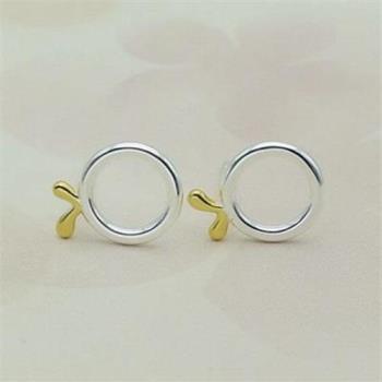 【米蘭精品】純銀耳環925純銀耳針式耳飾韓版可愛小圈圈時尚73ag12