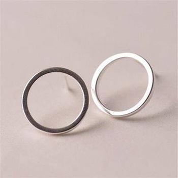 【米蘭精品】純銀耳環925純銀耳針式耳飾百搭小圓圈73ag53