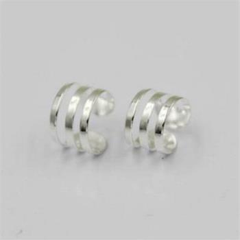 【米蘭精品】925純銀耳環耳夾式耳飾韓版小圈圈個性時尚2款73ag235