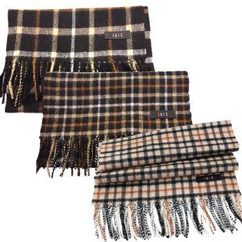 【DAKS】經典正格紋喀什米爾圍巾-3色