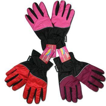 榭克絲 SOCKS, 3M女性抗寒防風撥水止滑輕薄手套(粉/黑色、萄葡紫/黑色、紅/黑色)