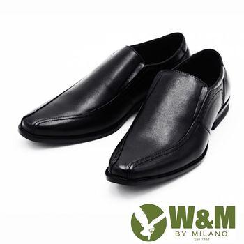 W&M 商務皮鞋 英倫增高男鞋-黑