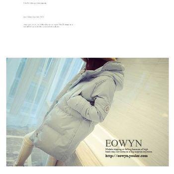 韓版大碼中長款 加厚保暖棉服外套 ( 白 / 黑 / 灰 ) 3色選 S~2XL