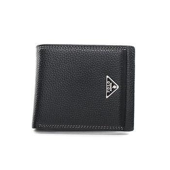 XINWEI POLO 英式設計質感壓紋經典小牛皮短夾-大-02029-B