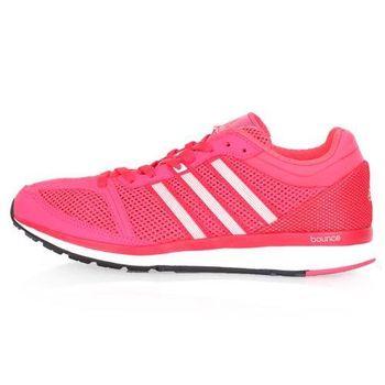 【ADIDAS】MANA RC BOUNCE W 女慢跑鞋- 路跑 輕量 亮桃紅白