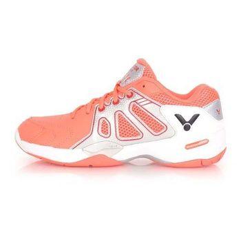【VICTOR】女多功能專業級羽球鞋- 羽毛球 亮橘銀