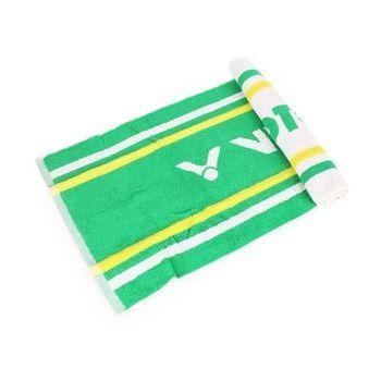 【VICTOR】運動毛巾-慢跑 路跑 游泳 浴巾 綠黃