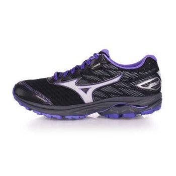 【MIZUNO】RIDER 20 G-TX 女越野慢跑鞋-GORE-TEX 美津濃 黑紫