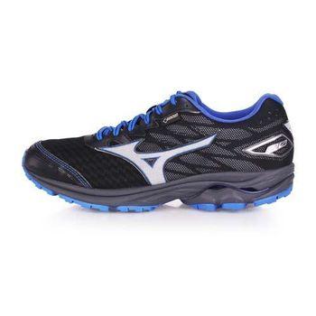 【MIZUNO】RIDER 20 G-TX 男越野慢跑鞋-GORE-TEX 美津濃 黑藍