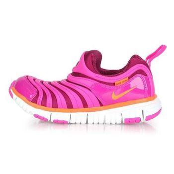 【NIKE】男女大童毛毛蟲鞋 DYNAMO FREE-PS- 兒童 女童 紫橘
