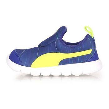 【PUMA】BAO 2 MARBLE INF 男女兒童休閒運動鞋-童鞋 慢跑 深藍螢光黃