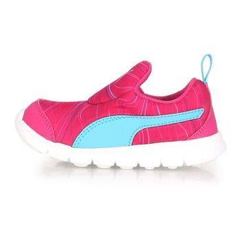 【PUMA】BAO 2 MARBLE INF 男女兒童休閒運動鞋-童鞋 慢跑 桃紅水藍