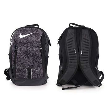 【NIKE】後背包-雙肩包 旅行 可攜17吋筆電 黑白灰