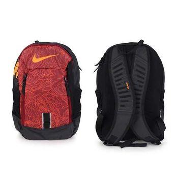 【NIKE】後背包-雙肩包 旅行 可攜17吋筆電 黑橘