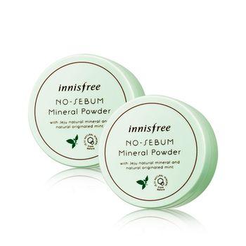 韓國 Innisfree 無油光天然薄荷礦物控油蜜粉 5g  2入組