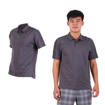 【NIKE】GOLF 男排汗短袖針織衫- 高爾夫球 POLO衫 立領 T恤 深灰