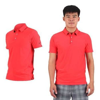 【NIKE】GOLF 男排汗短袖針織衫- 高爾夫球 POLO衫 立領 T恤 深橘