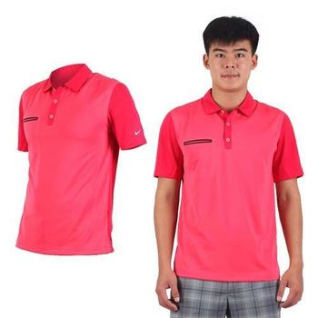 【NIKE】GOLF 男快速排汗輕質短袖針織POLO衫- 高爾夫球 立領 紅黑