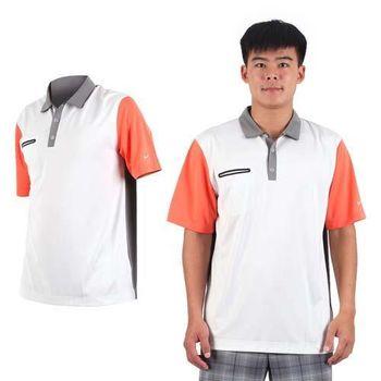 【NIKE】GOLF 男快速排汗輕質短袖針織POLO衫- 高爾夫球 立領 灰黑橘