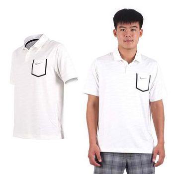 【NIKE】GOLF 男排汗短袖針織衫- 高爾夫球 POLO衫 立領 T恤 白黑灰
