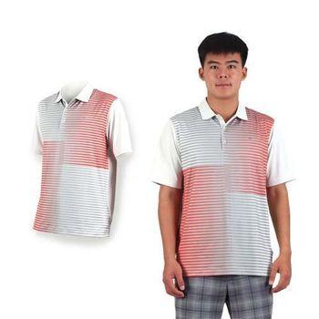 【NIKE】GOLF 男快速排汗短袖針織POLO衫- 高爾夫球 短袖 立領 灰橘
