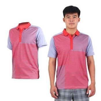 【NIKE】GOLF 男排汗短袖針織衫- 高爾夫球 POLO衫 立領 T恤 紅紫