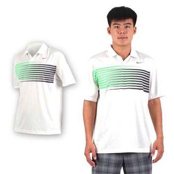 【NIKE】GOLF 男排汗短袖針織衫- 高爾夫球 POLO衫 立領 T恤 白綠黑