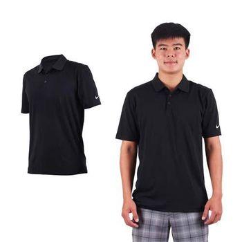【NIKE】GOLF男排汗短袖針織衫-高爾夫球 POLO衫 立領 T恤 黑白