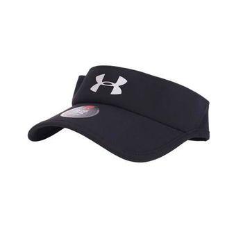 【UNDER ARMOUR】UA SHADOW 3.0 男中空帽-遮陽 帽子 黑銀