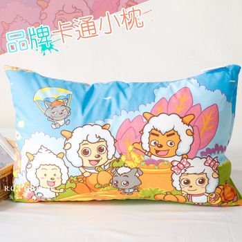 【R.Q.POLO】喜羊羊 品牌卡通小童枕/兒童枕/枕頭(含枕心)