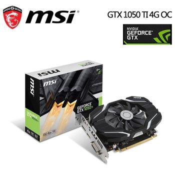 msi 微星 GeForce GTX1050 Ti 4G OC 顯示卡